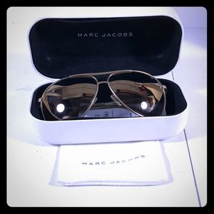 marc jacobs mirrored gold aviators